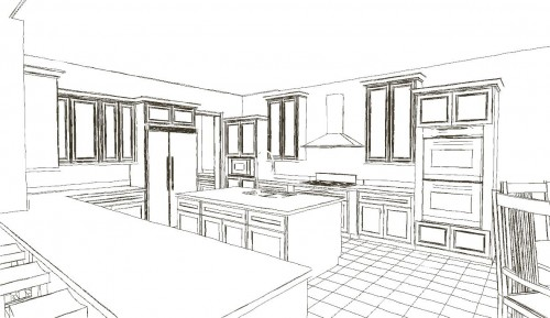 Kitchen Layout Line Drawing - 042514 - PAN